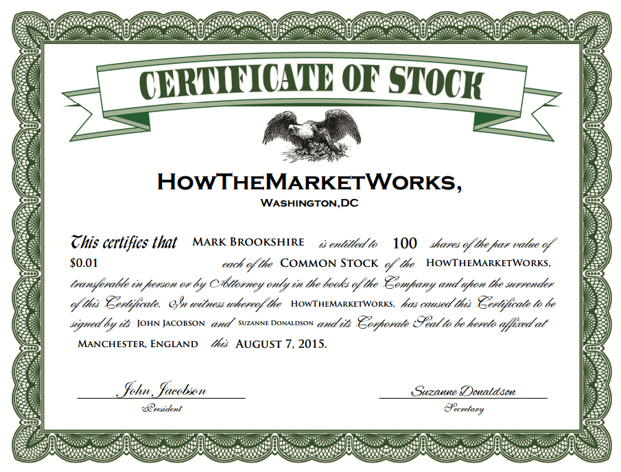 What is a – Company Share Certificates