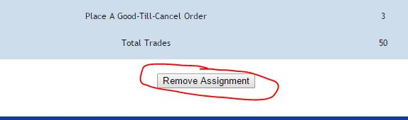 removing assignments