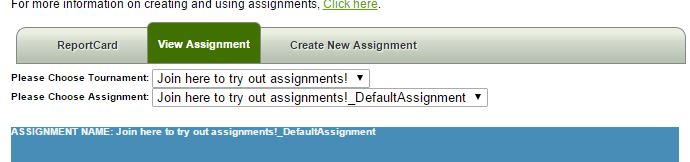 viewing assignments