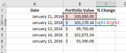 how to make excel formula stay on a certain cell