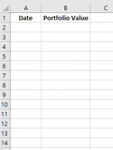 portfolio excel 1