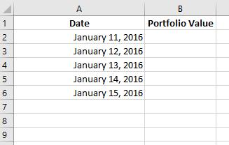 portfolio dates