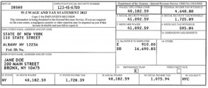 W-2 form, perhaps the most important financial record