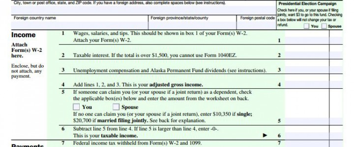 Income Tax Filing and the 1040 EZ