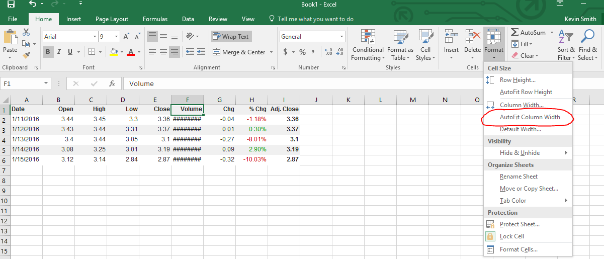Using Spreadsheets – Importing and Formatting Data | Personal